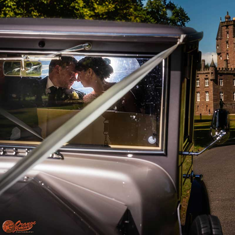 Glamis castle wedding photos